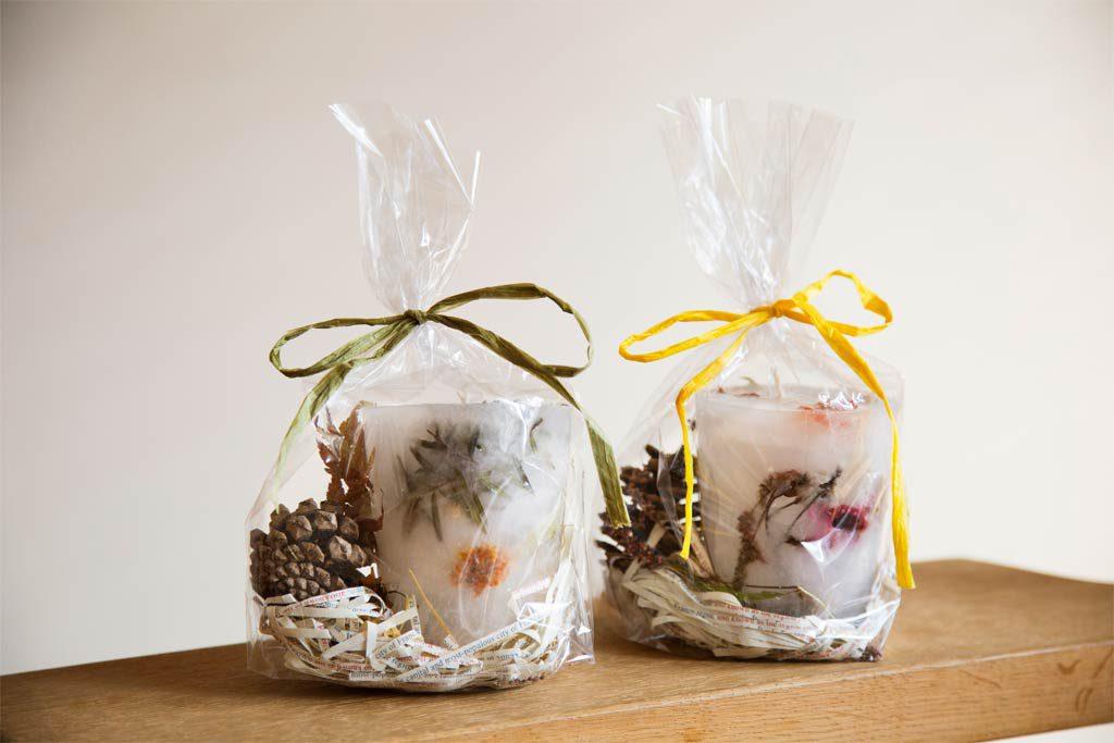 プレゼントにできる手作りボタニカルキャンドル/農園リゾート ザファーム(千葉県/香取市)