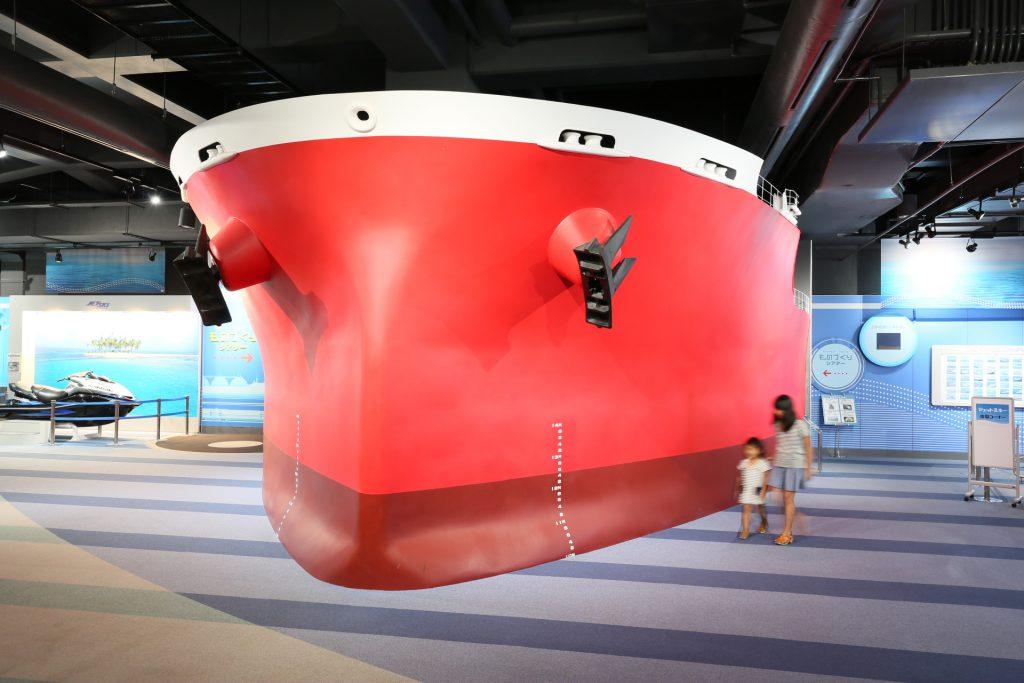 ばら積運搬船を再現した「ものづくりシアター」/カワサキワールド(兵庫県神戸市)