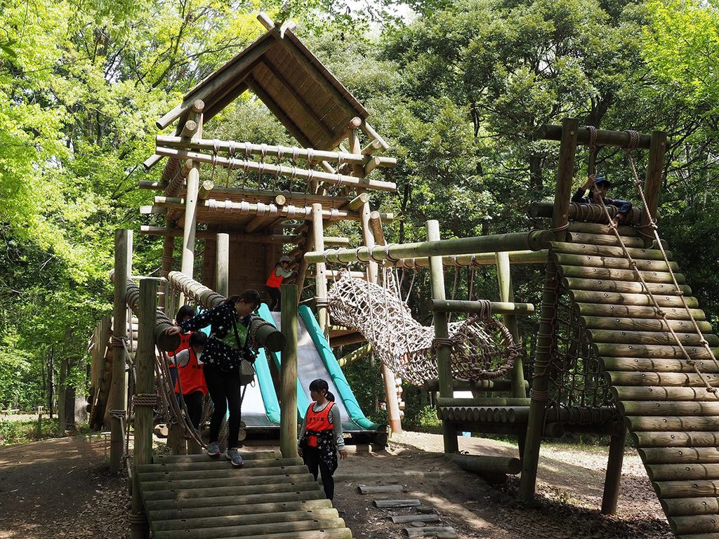 緑の中でアスレチック/井頭公園フィールド・アスレチックコース(栃木県/真岡市)