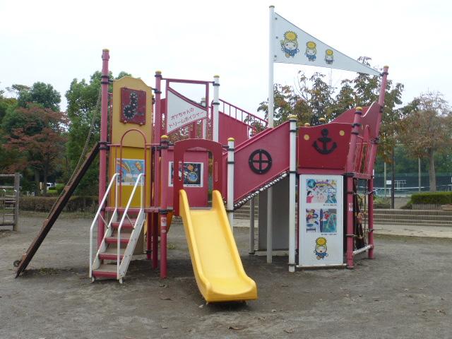 複合遊具「オケちゃんのドリームボイジャー」/城山公園(埼玉県/桶川市)