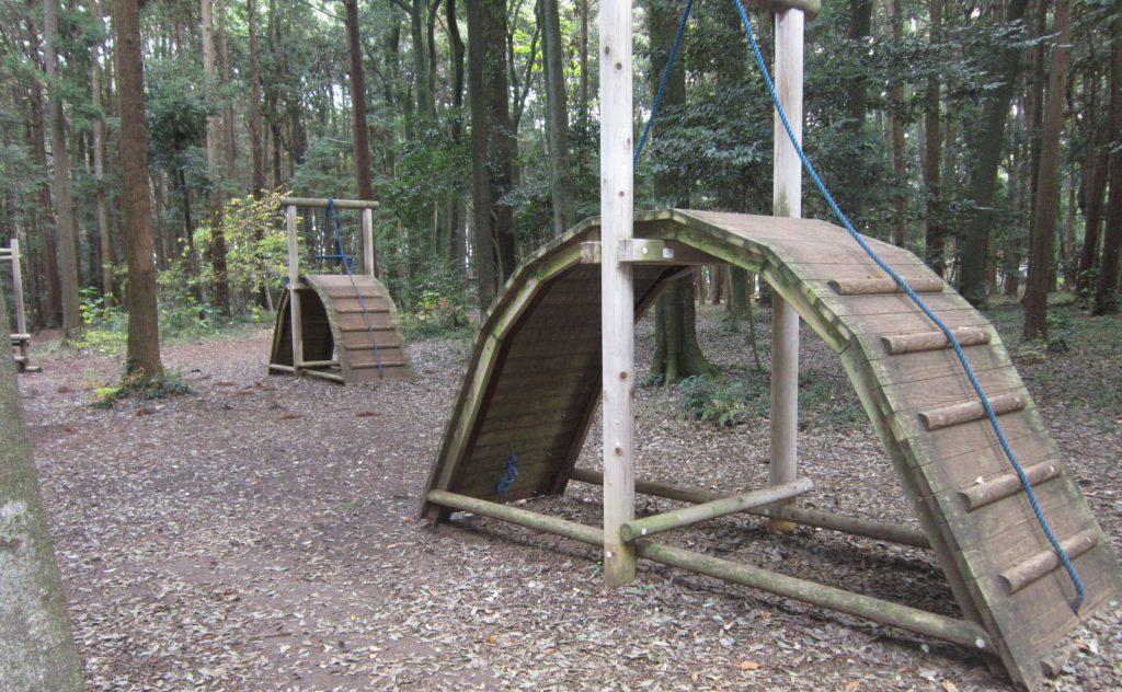 アスレチック遊具「虹のかけ橋」/手賀の丘公園(千葉県柏市)