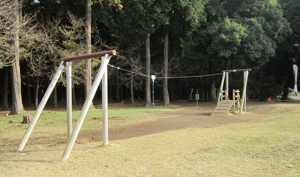 ターザンロープ(ムササビグライダー)/手賀の丘公園(千葉県柏市)