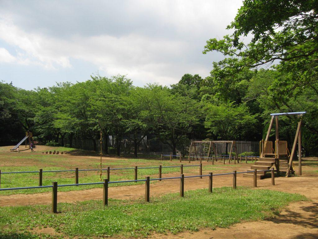 ターザン遊びができる人気の「ロープウェイ」/流山市総合運動公園(千葉県)