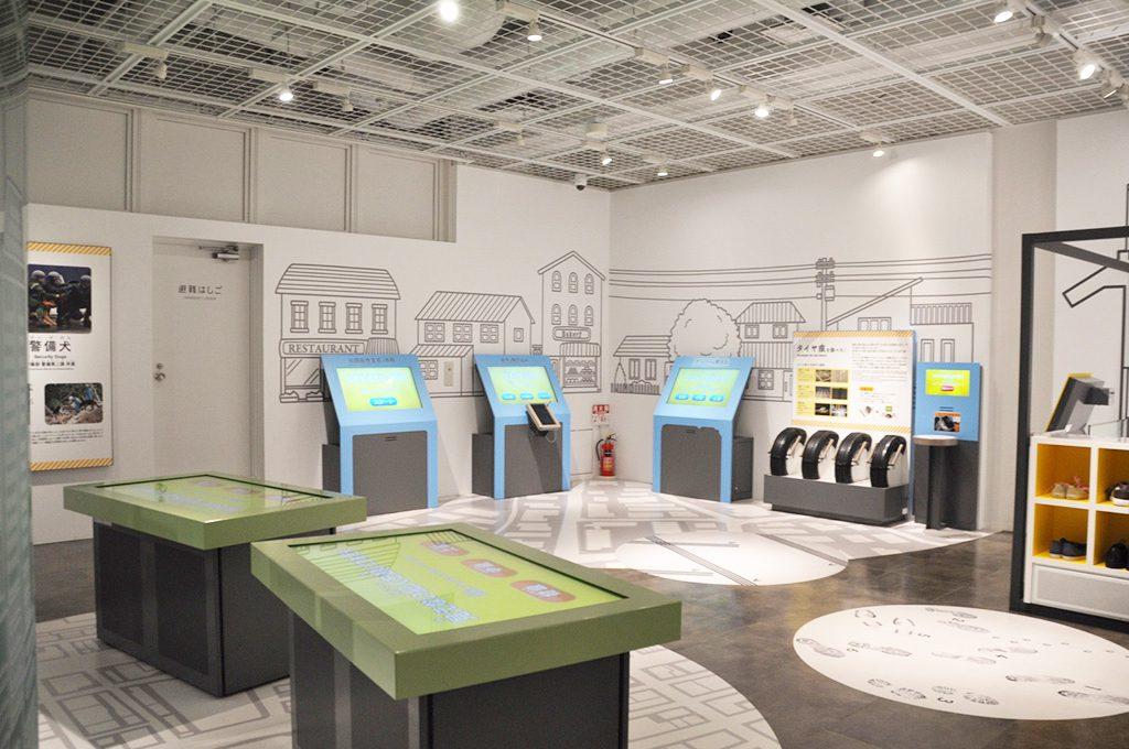 警察官の仕事の体験コーナー/警察博物館(東京都/中央区)