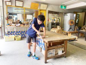 木工室で作業をする子ども/わんぱく天国(東京都/墨田区)