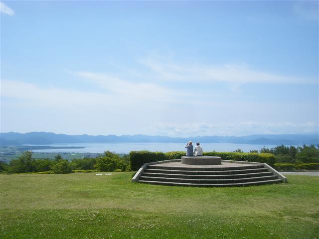 猪苗代湖を望む眺望台/昭和の森(天鏡台)(福島県猪苗代町)
