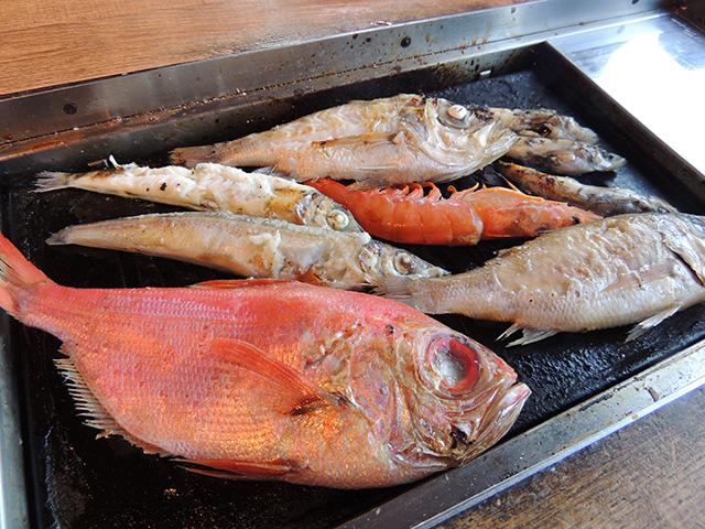 焼きあがった深海魚/浜焼き しんちゃん(静岡県/沼津市)