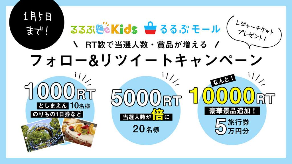 フォロー&リツイートキャンペーン 5万円分の旅行券など豪華プレゼント!