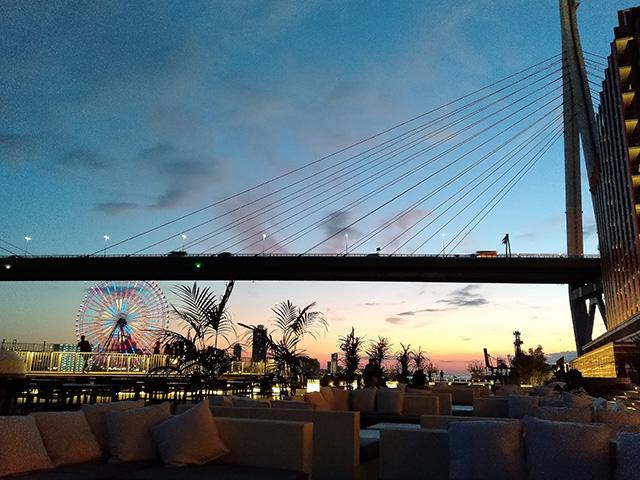 テラスから見える夜景/リーベルホテル アット ユニバーサル・スタジオ・ジャパン(大阪府/大阪市)