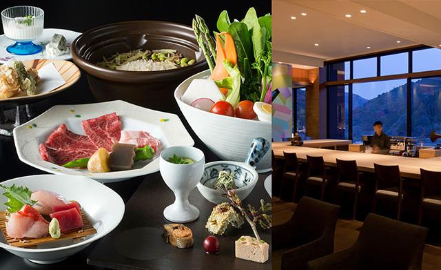 地元の旬の食材を盛り込んだ会席料理/古湯温泉ONCRI(佐賀市)