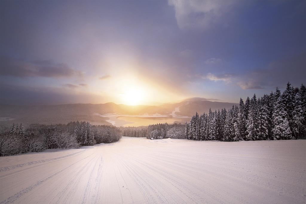 白馬さのさかスキー場のゲレンデ(長野県/北安曇郡白馬村)
