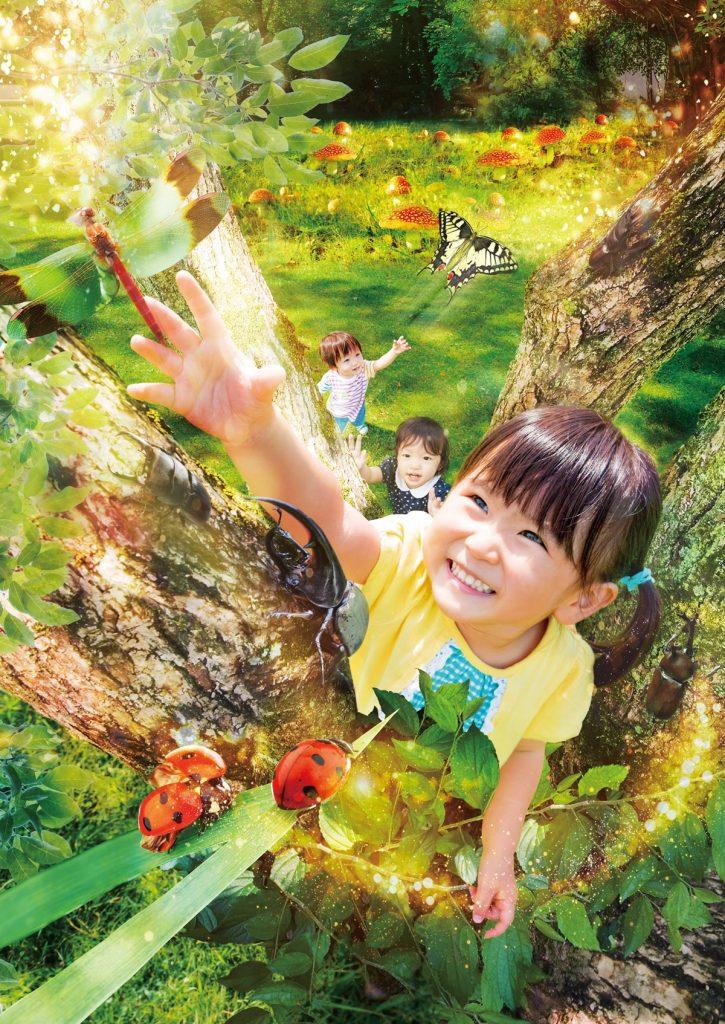 屋内で楽しめるバーチャル虫とり「屋内木のぼり 森の子」/あそびパークPLUS イオンレイクタウン店(埼玉県/越谷市)