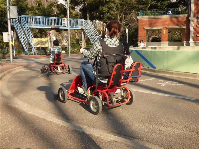 貸出無料の足踏式ゴーカート/杉並児童交通公園(東京都/杉並区)