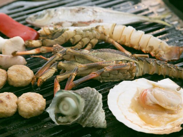 新鮮な魚介類がいっぱい/初島ピクニックガーデン(静岡県熱海市)
