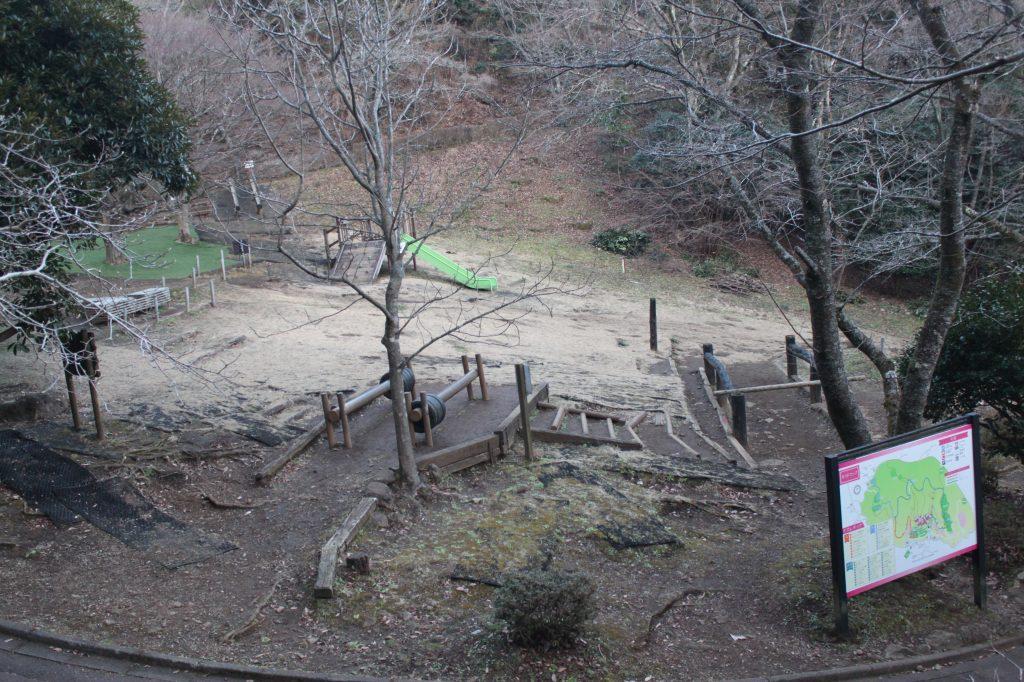 49ものアスレチックが点在する「アスレチック広場」/姫の沢公園(静岡県熱海市)