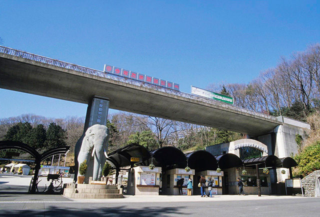 入口のゾウの像/多摩動物公園(東京都/日野市)