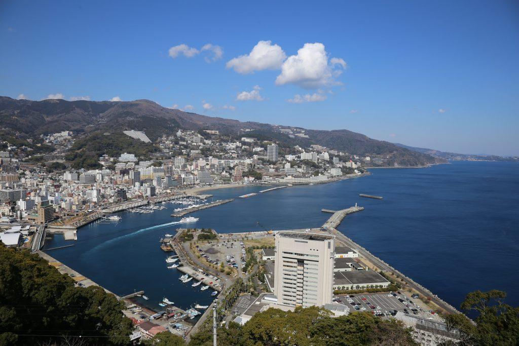 天守閣からの眺望/熱海城(静岡県熱海市)