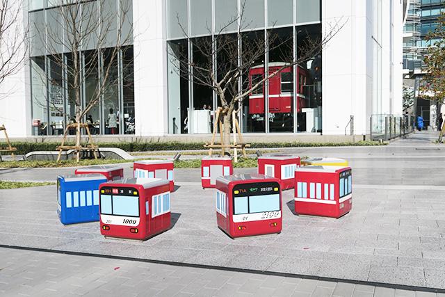 屋外展示の「ケイキューブ」/京急ミュージアム(神奈川県/横浜市)