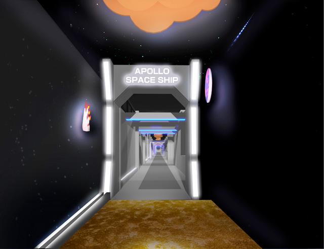 アポロ見学ラインの入り口/明治なるほどファクトリー坂戸
