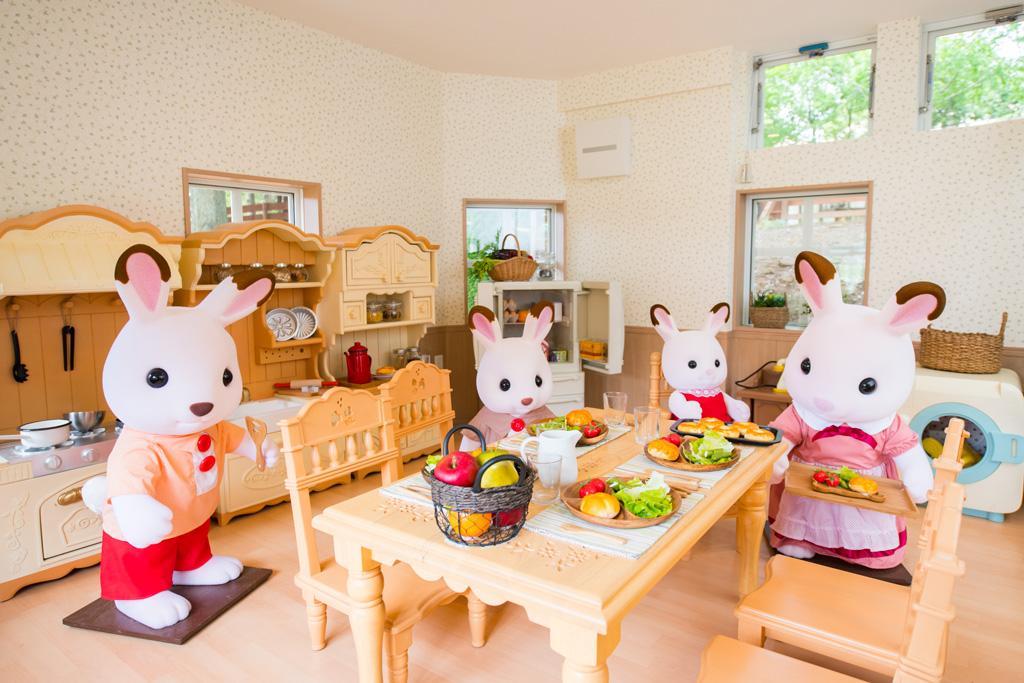 家の中にはショコラウサギファミリーが! ※写真は茨城県「こもれび森のイバライド」のもの