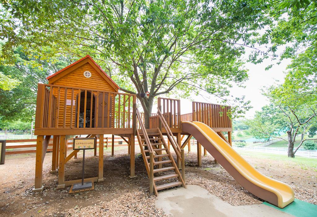 ツリーハウス ※写真は茨城県「こもれび森のイバライド」のもの