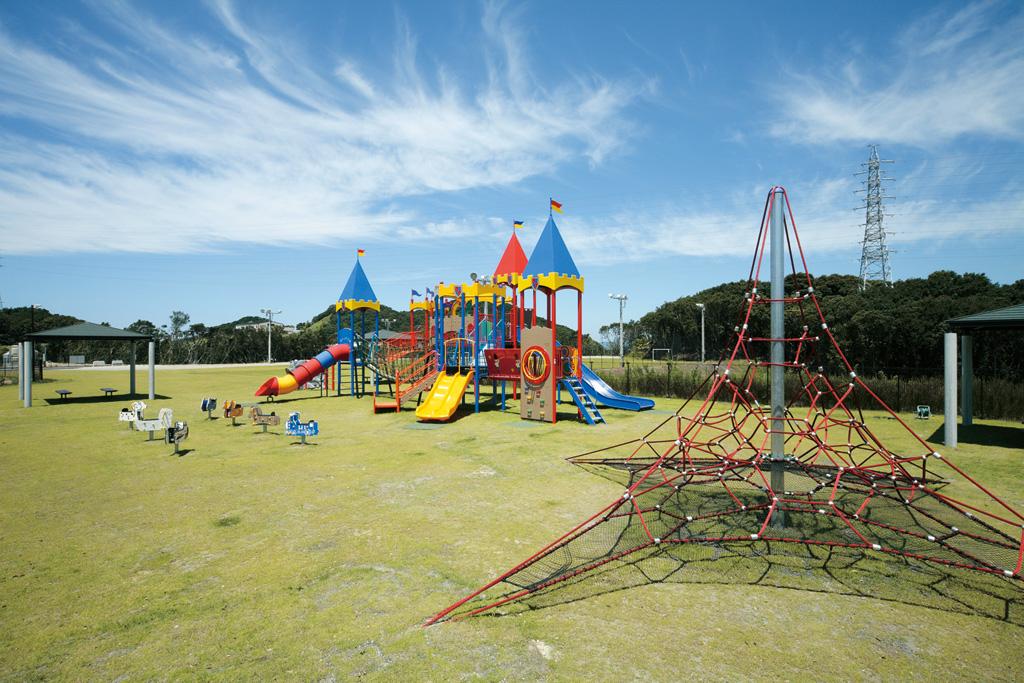 宿泊客だけが利用できる遊具のある公園/とれとれヴィレッジ(和歌山県/西牟婁郡白浜町)