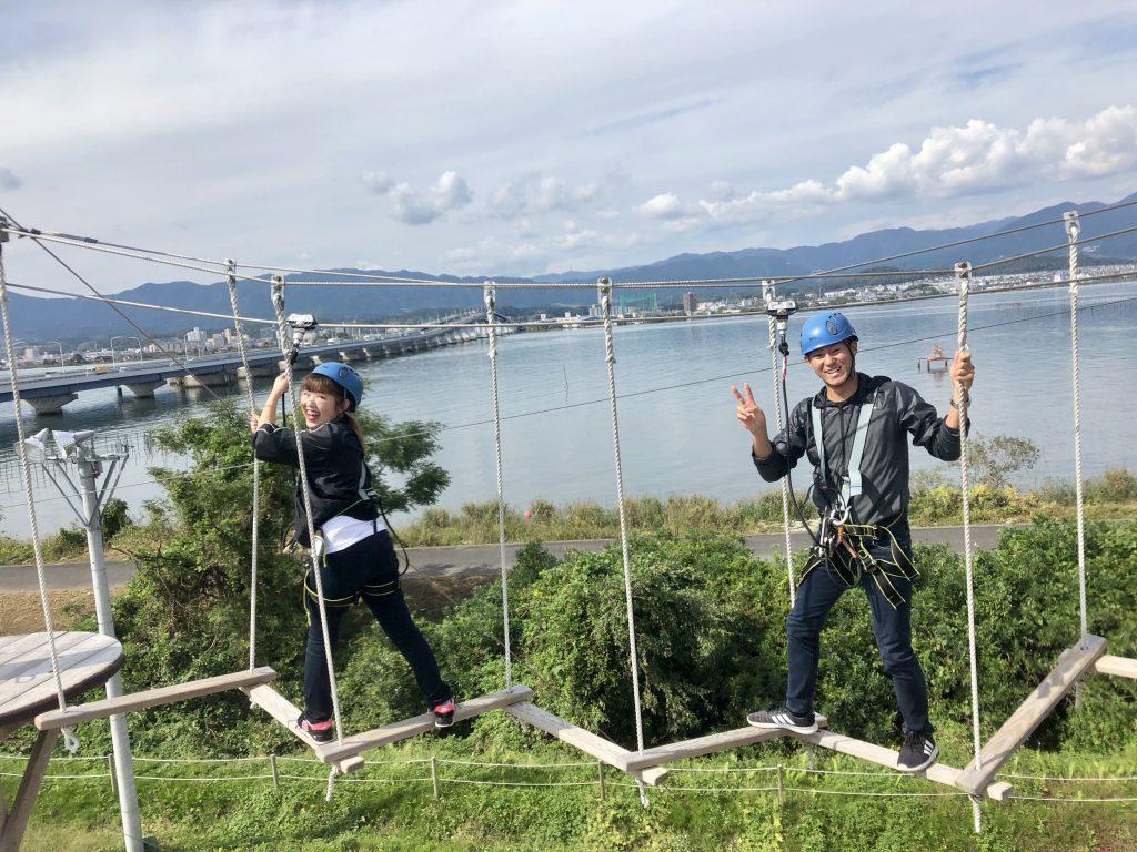 空中アスレチック/びわこスカイアドベンチャー(滋賀県守山市)