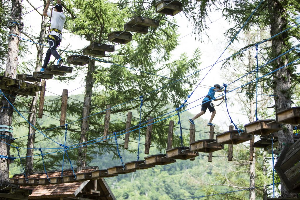 ツリートレッキング/ニセコビレッジ 自然体験グラウンド「ピュア」(北海道ニセコ町)