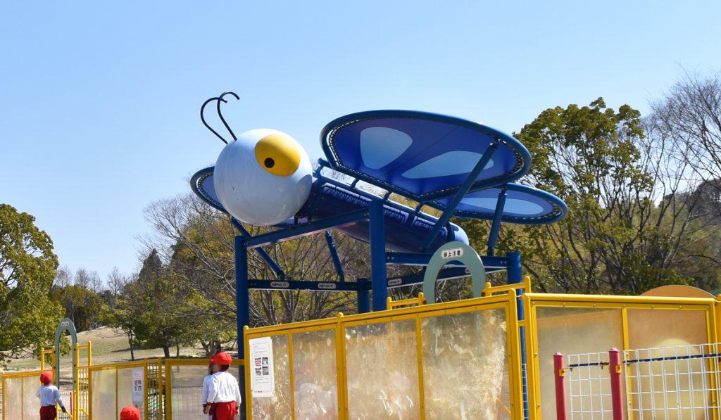 幼児から楽しめるチョウの遊具/蜻蛉池公園(大阪府岸和田市)