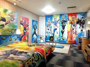池の平ホテルで楽しむ仮面ライダー&プリキュア&テディベア【キャラクタールーム】