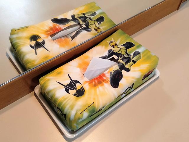 仮面ライダーゼロワンのティッシュケース/白樺リゾート 池の平ホテル(長野県/立科町)