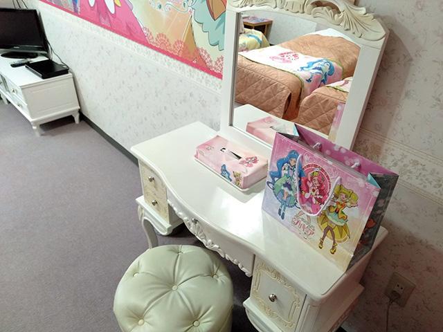プリキュアルームのドレッサー/白樺リゾート 池の平ホテル(長野県/立科町)