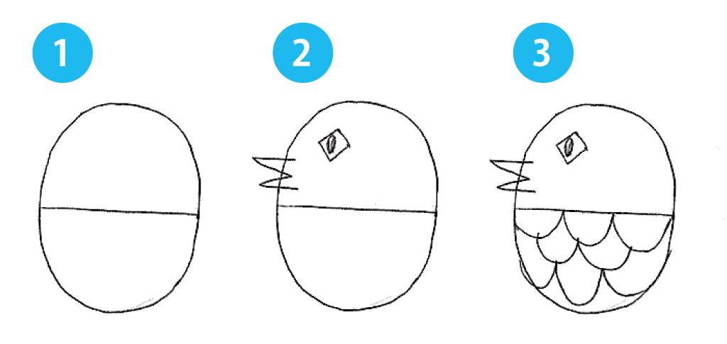 アマビエのイラストの描き方1~3