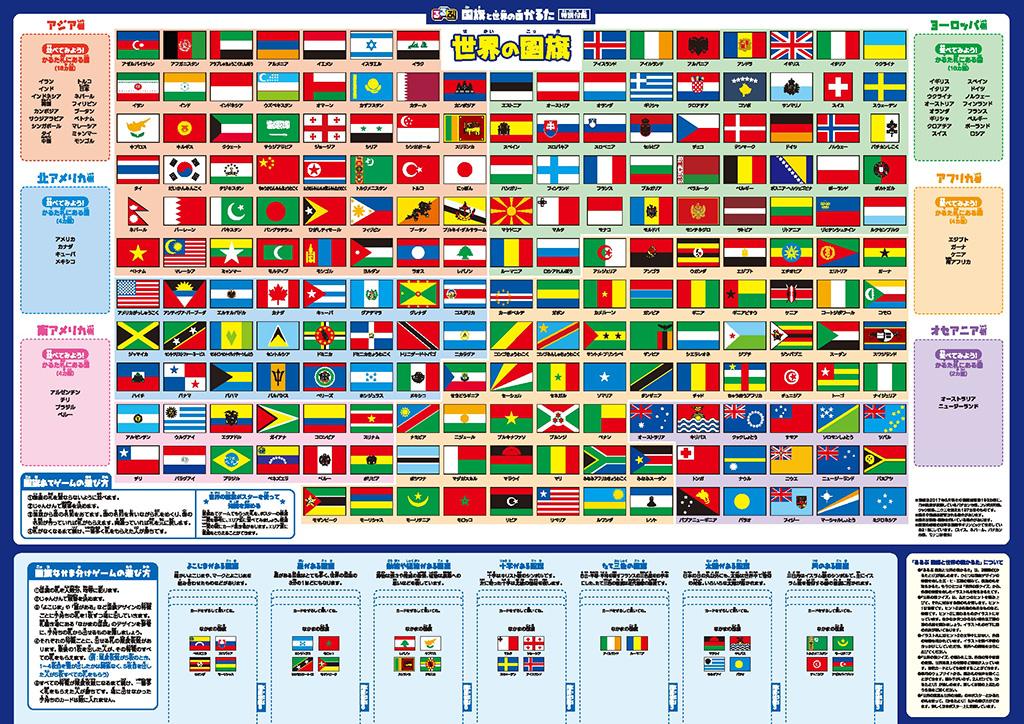 付録の国旗ポスター/国旗と世界の国かるた