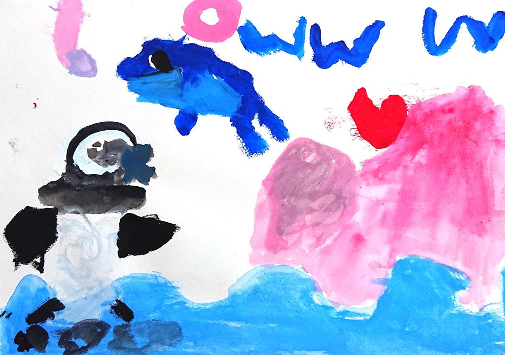 こども絵画「お誕生日は八景島に行きたい」