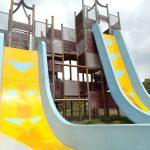 大型遊具がスゴイ公園!彩都なないろ公園(大阪)のダブルフリーフォールは傾斜80度