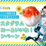 【電動本格ふわふわかき氷器をプレゼント】「るるぶKids」インスタグラム フォロー&いいね!キャンペーン開催中!