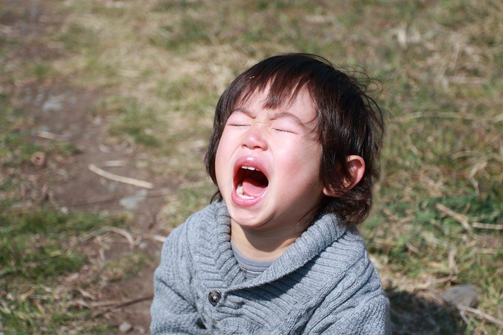 【子どものイヤイヤ期を乗り切る方法】泣く子ども