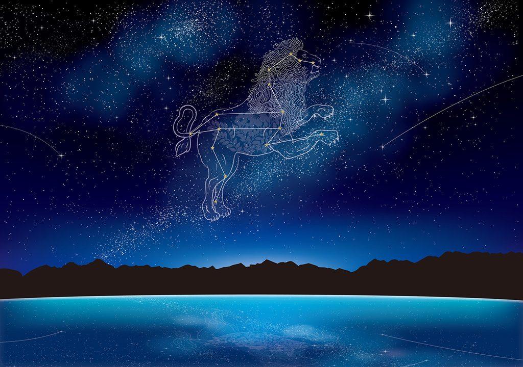 獅子座イメージ/春の星空観察