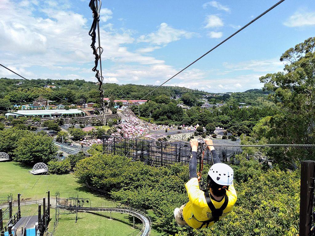 「ジップライン~風KAZE~」/伊豆ぐらんぱる公園(静岡県/伊東市)
