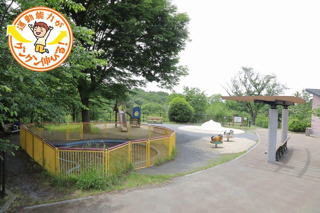 自然林に包まれた丘の上の遊具広場が人気の桜ヶ丘公園(多摩市)