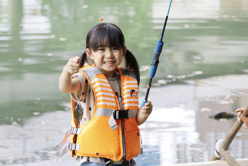 釣り体験の様子