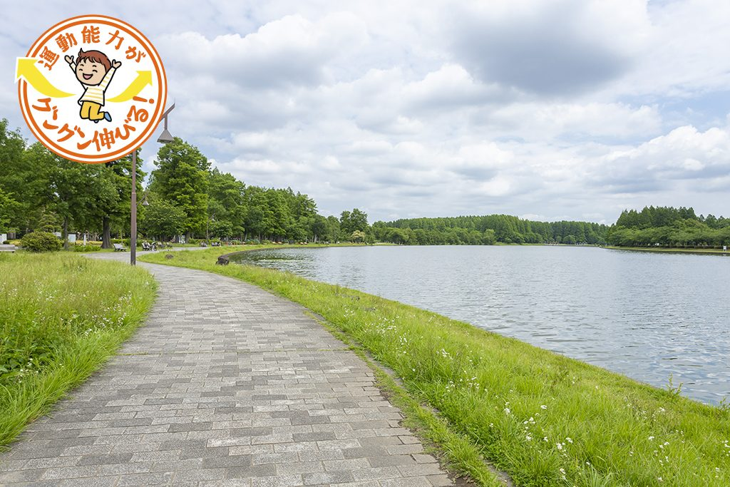 芝生や遊具、生き物や植物観察など、いろいろな遊び方ができる水元公園(葛飾区)