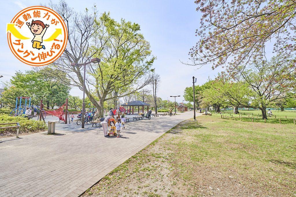 空を大きく感じる原っぱと遊具やスポーツも楽しめる武蔵野中央公園(武蔵野市)