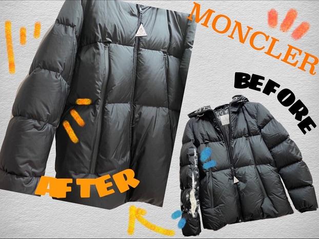 MONCLER(モンクレール) ダウンジャケット 袖裂けお修理