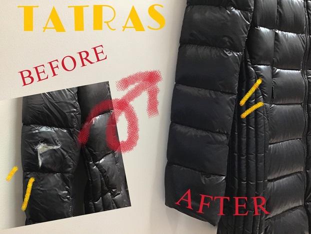 TATRAS(タトラス)大きな破れのお修理も元通りに!