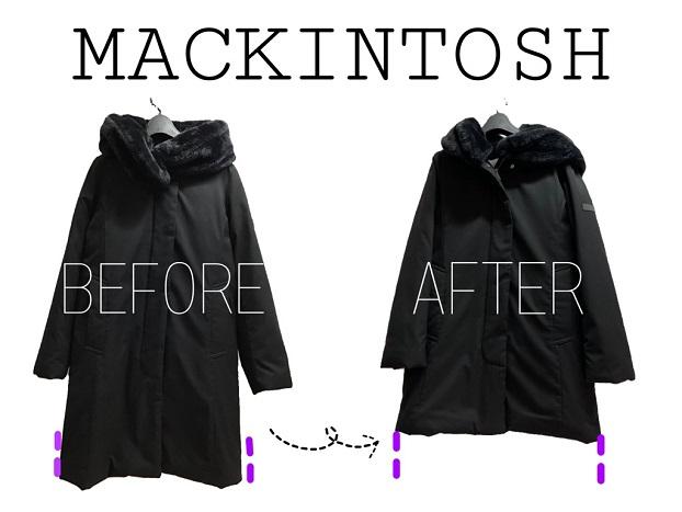 MACKINTOSH(マッキントッシュ) ダウンジャケット 丈詰めのお修理
