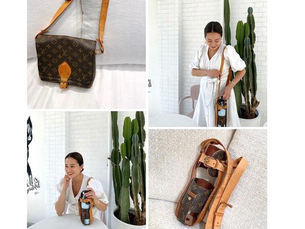 黒木ナツミさんからのご依頼~Louis Vuitton(ルイ・ヴィトン) モノグラムバッグ ボトルホルダーリメイク~