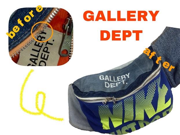 GALLERY DEPT(ギャラリーデプト) リメイクバッグ ファスナー修理