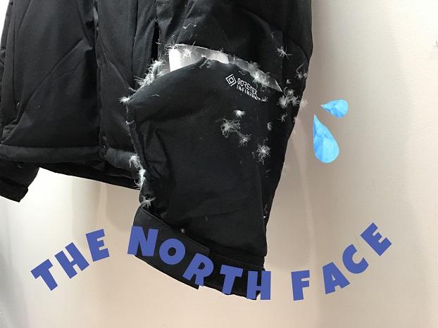 THE NORTH FACE(ノースフェイス)生地破れ ロゴもお直し!